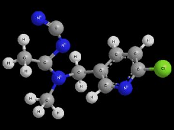 Формула ацетамиприда